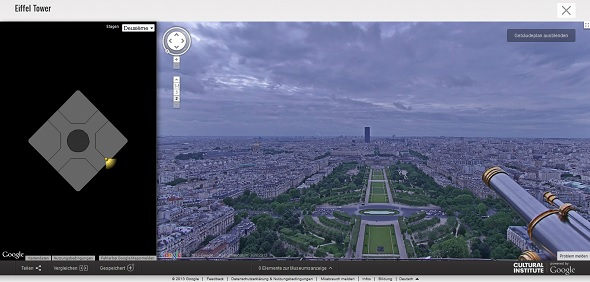 Screenshot Google Street View vom Eifelturm