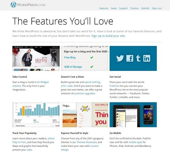 Wordpress, seit Jahren die beliebteste Software- und Plattformlösung für Blogger.