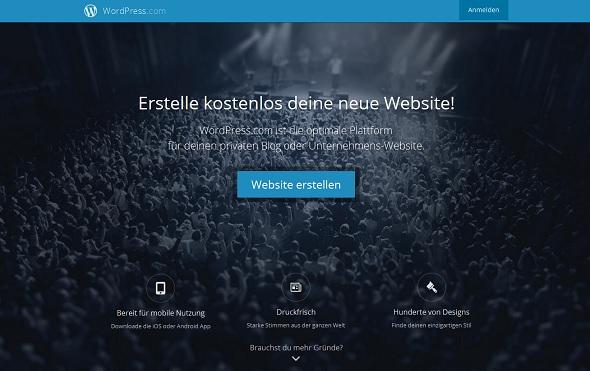 Kostenlose Blogs bei WordPress