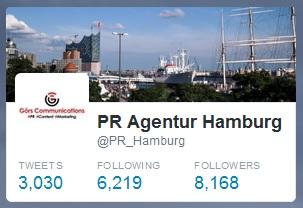 PR Agentur Hamburg auf Twitter