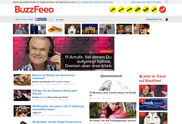 BuzzFeed Deutschland Screenshot