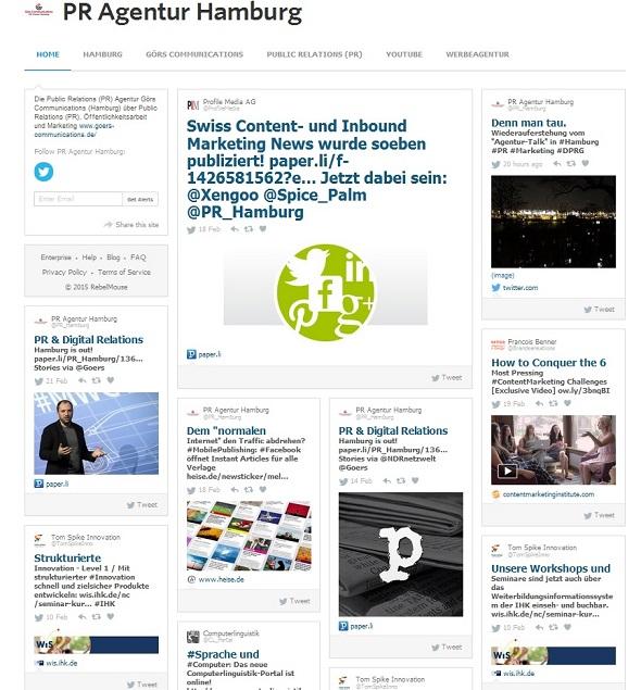 PR Agentur Hamburg auf RebelMouse